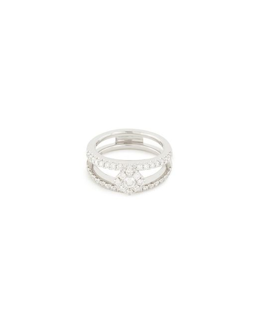 LC COLLECTION - 'art Deco' Diamond 18k White Gold Ring - Lyst