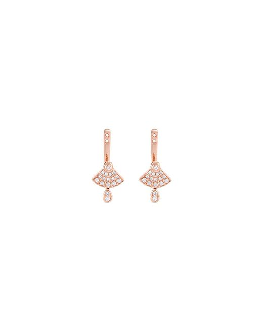 LC COLLECTION - Metallic 'art Deco' Diamond 18k Rose Gold Earring Jackets - Lyst