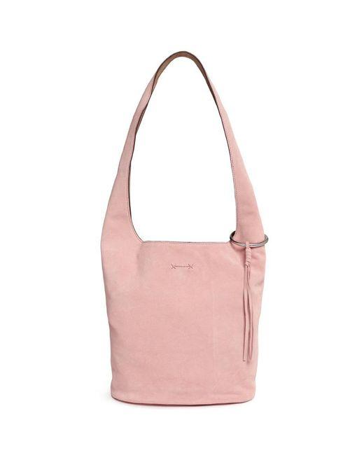 Elizabeth and James   Pink 'finley Courier' Tassel Suede Bag   Lyst