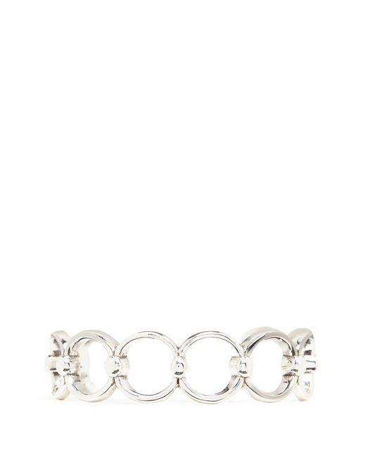 Philippe Audibert | Metallic 'alyssa' Silver Plated Cutout Link Cuff | Lyst