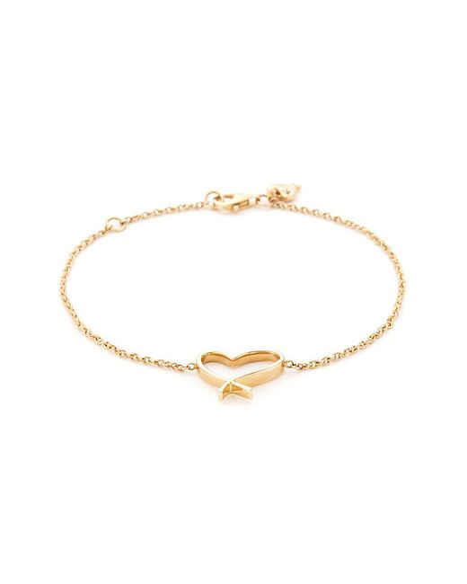 Stephen Webster - Metallic 'neon Heart' 18k Yellow Gold Charm Bracelet - Lyst