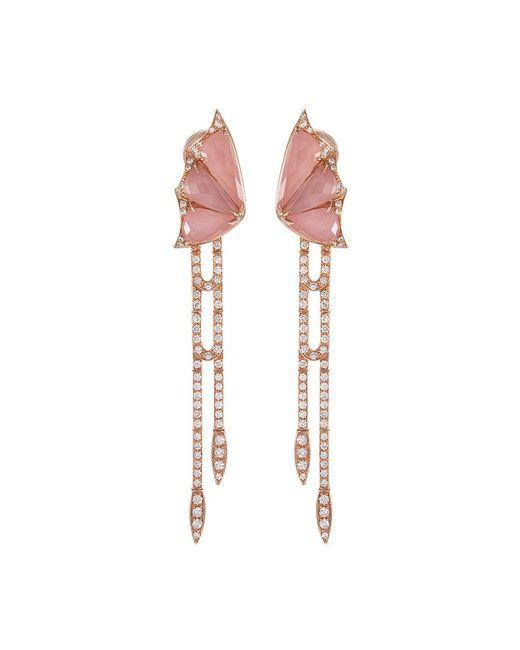 Stephen Webster - Metallic 'crystal Haze' Diamond Crystal 18k Rose Gold Drop Earrings - Lyst