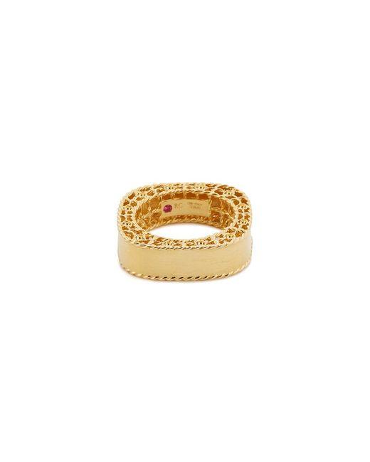 Roberto Coin - Metallic 'princess' 18k Yellow Gold Ring - Lyst