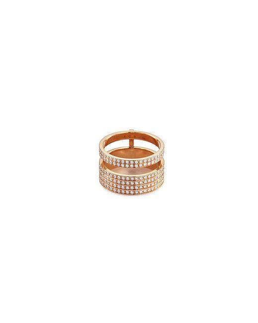Repossi - Metallic 'berbère Module' Diamond 18k Rose Gold Two Row Ring - Lyst
