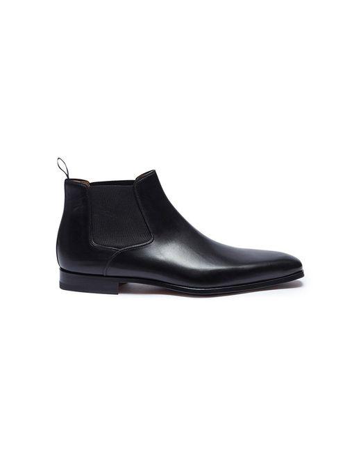 Magnanni Shoes - Black Leather Chelsea Boots for Men - Lyst