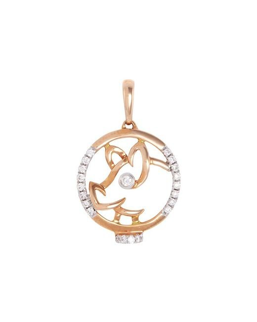 LC COLLECTION | Metallic Diamond 18k Rose Gold Chinese Zodiac Pendant - Pig | Lyst