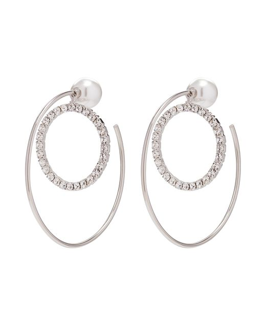 Joomi Lim - Metallic 'saturn Stunner' Detachable Swarovski Crystal Ring Large Hoop Earrings - Lyst