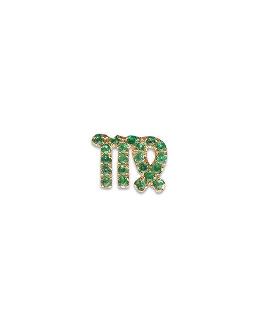 Loquet London - Green 18k Yellow Gold Emerald Zodiac Charm - Virgo - Lyst