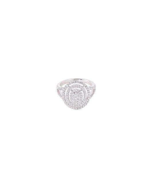 LC COLLECTION - Metallic Diamond 18k Gold Circular Cutout Ring - Lyst
