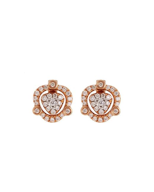 LC COLLECTION - Metallic Diamond 18k Rose Gold Detachable Drop Earrings - Lyst
