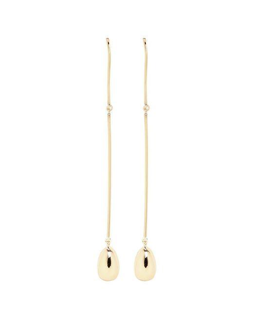Elizabeth and James | Metallic 'jana' Linear Wire Ball Stud Drop Earrings | Lyst
