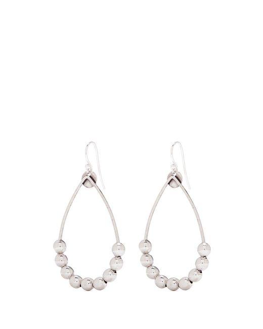 Philippe Audibert | Metallic 'antron' Sliding Bead Teardrop Hoop Earrings | Lyst