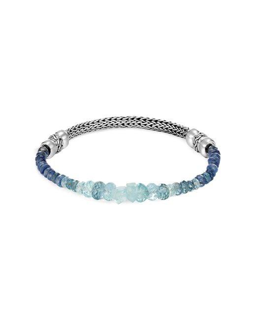 John Hardy - Multicolor 'classic Chain' Aquamarine Kyanite Silver Extra Small Bracelet - Lyst