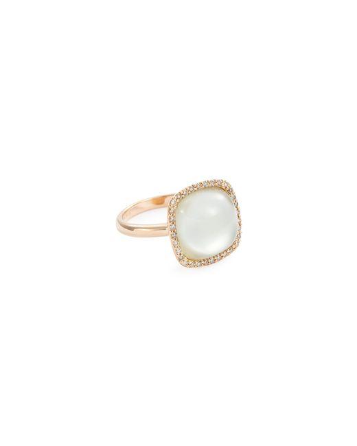 Roberto Coin - Metallic 'cocktail' Diamond Amethyst Quartz 18k Rose Gold Ring - Lyst