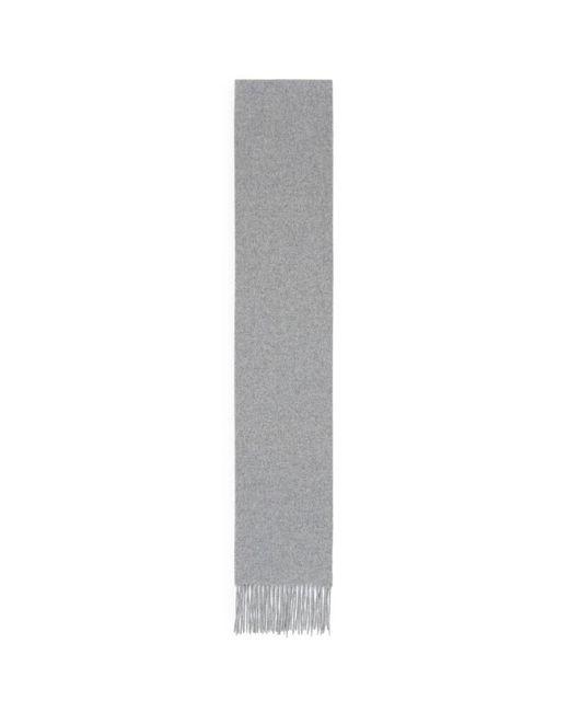 Acne - Gray 'canada' Fringe Skinny Wool Scarf - Lyst