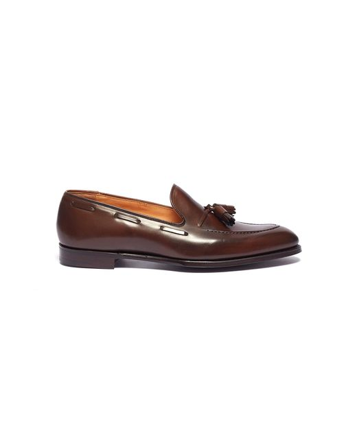 George Cleverley - Brown 'adrian' Tassel Leather Loafers for Men - Lyst