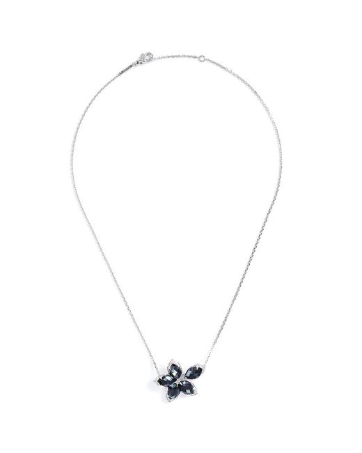 Stephen Webster - Black Crystal Haze Diamond 18k White Gold Floral Pendant Necklace - Lyst