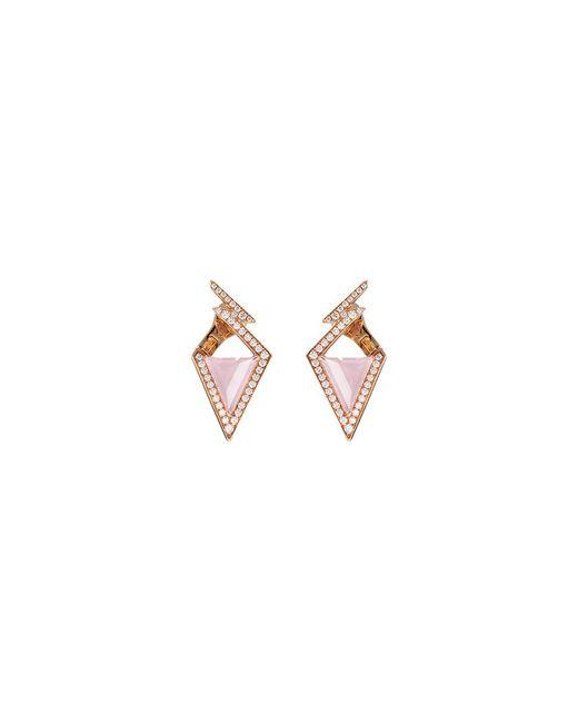 Stephen Webster - Metallic 'lady Stardust' Diamond Opal 18k Rose Gold Geometric Earrings - Lyst