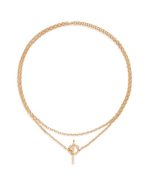Shihara   Metallic 'chain' 18k Yellow Gold Toggle Chain Bracelet   Lyst