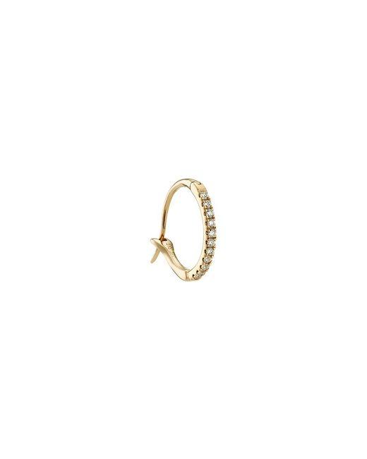 Loquet London - Metallic Diamond 14k Yellow Gold Talisman Hoop Earrings - Lyst
