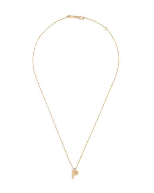 Roberto Coin - Metallic 'tiny Treasures' Diamond 18k Yellow Gold Letter Pendant Necklace – P - Lyst