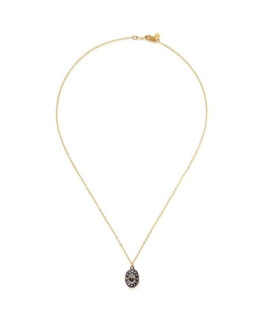 Ila & I - Metallic 'Muriel' Diamond Locket Necklace - Lyst