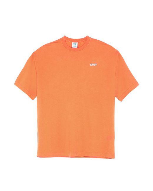 Lyst vetements 39 staff 39 print t shirt in orange for men for Vetements basic staff t shirt