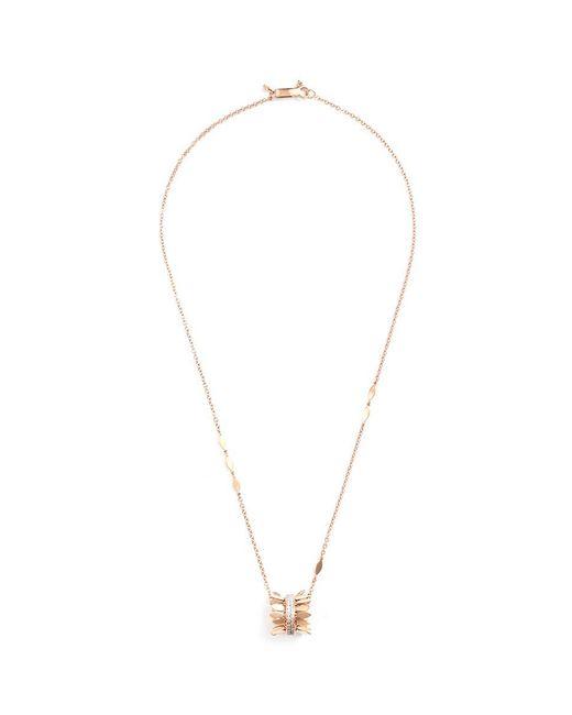 Ferrari Firenze | Metallic 'sole' Diamond 18k Rose Gold Hoop Leaf Pendant Necklace | Lyst