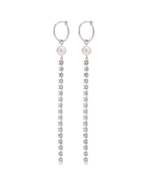 Joomi Lim - Metallic 'saturn Stunner' Detachable Swarovski Crystal Pearl Fringe Drop Link Earrings - Lyst