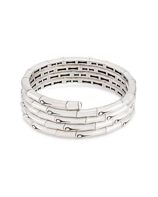 John Hardy - Metallic Silver Bamboo Four Row Coil Bracelet - Lyst