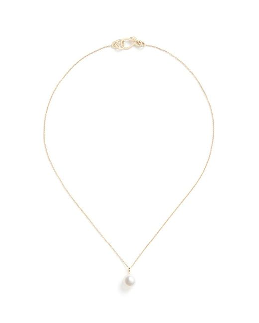 Sophie Bille Brahe - Metallic Perle Simple' Akoya Pearl 14k Gold Necklace for Men - Lyst