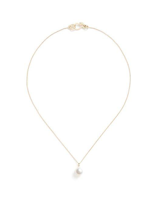 Sophie Bille Brahe - Metallic Perle Simple' Akoya Pearl 14k Gold Necklace - Lyst