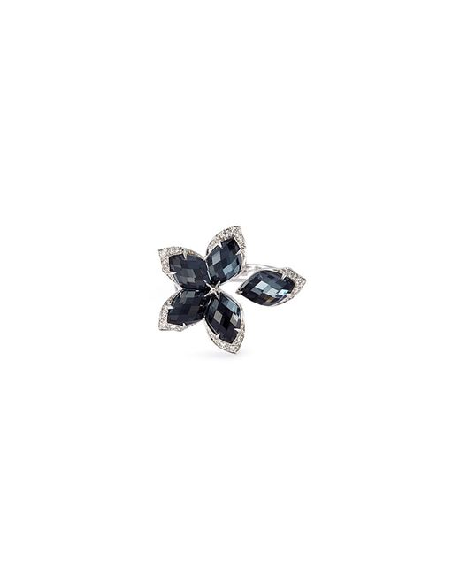 Stephen Webster - Black Crystal Haze Diamond 18k White Gold Small Ring - Lyst