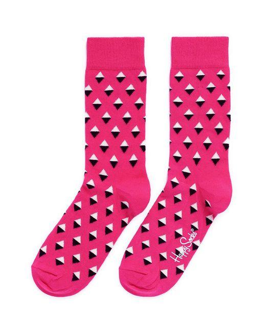 Happy Socks | Pink Mini Diamond Socks | Lyst