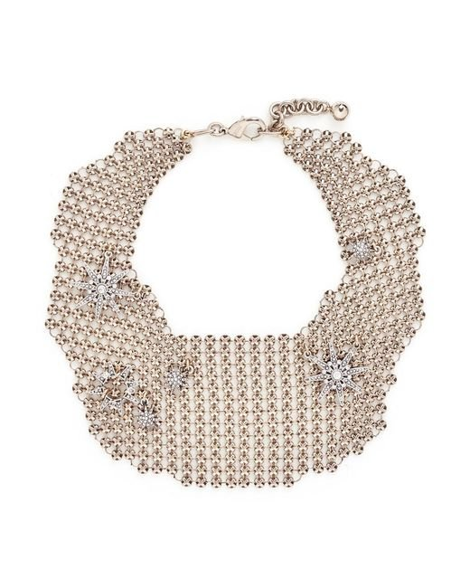Lulu Frost | Metallic 'radiant' Glass Crystal Star Mesh Bib Choker | Lyst