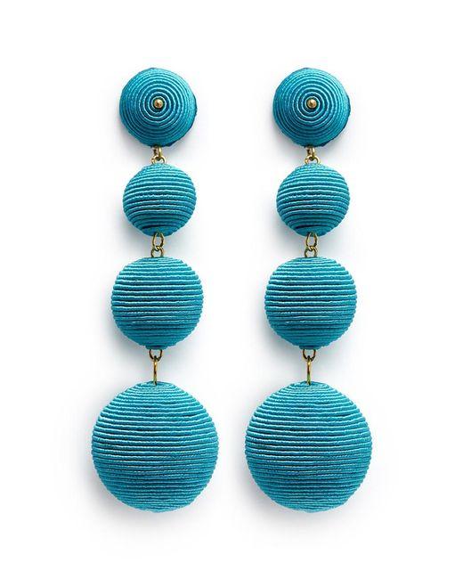 Kenneth Jay Lane | Blue 'carnival' Threaded Sphere Drop Earrings | Lyst