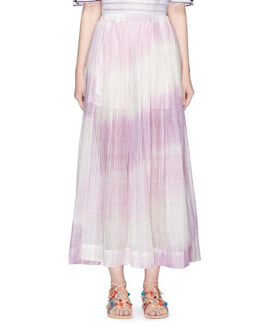 Lemlem | Purple 'berhan Lounge' Elastic Waist Cotton Skirt | Lyst