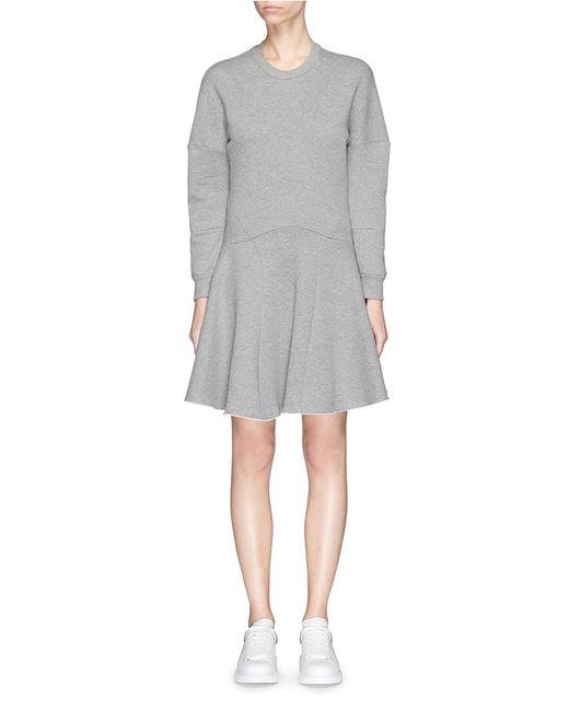 Alexander McQueen | Gray Dragon Embroidered Back Sweatshirt Dress | Lyst