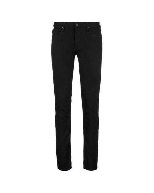 Armani | Black Slim Fit Raw Jeans for Men | Lyst
