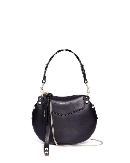 Jimmy Choo | Black 'artie' Mini Nappa Leather Shoulder Bag | Lyst