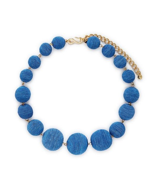 Kenneth Jay Lane | Blue Threaded Sphere Necklace | Lyst