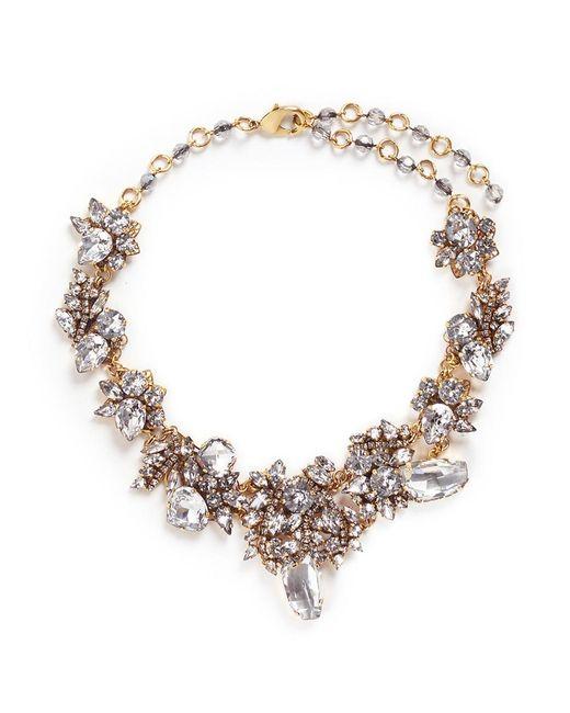 Erickson Beamon | White 'valley Of The Dolls' Swarovski Crystal Cluster Necklace | Lyst