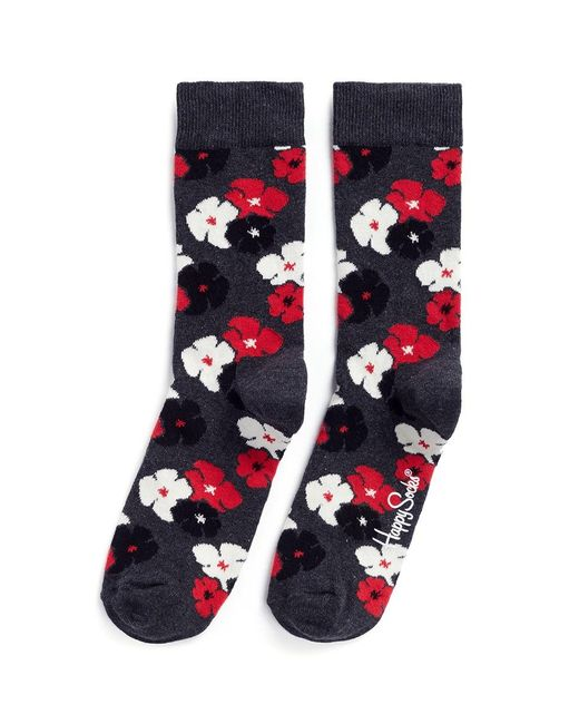 Happy Socks   Blue 'kimono' Floral Socks   Lyst