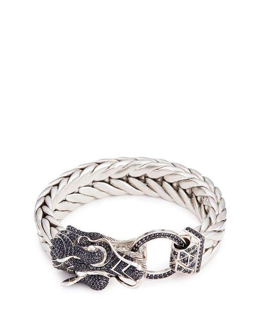 John Hardy   Metallic Sapphire Silver Naga Weave Effect Chain Bracelet   Lyst