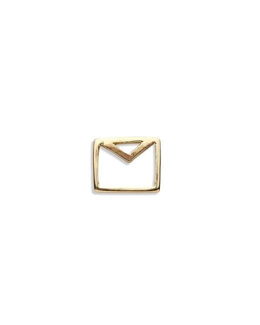 Loquet London | Metallic 18k Yellow Gold Envelope Charm - Love Letters | Lyst