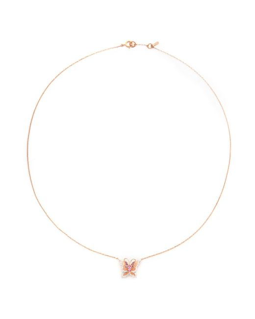 Bao Bao Wan | Metallic 'little Butterfly' 18k Gold Diamond Necklace | Lyst