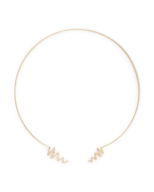Phyne By Paige Novick | Metallic Ines' Scribble Diamond Pavé 18k Gold Open Collar | Lyst