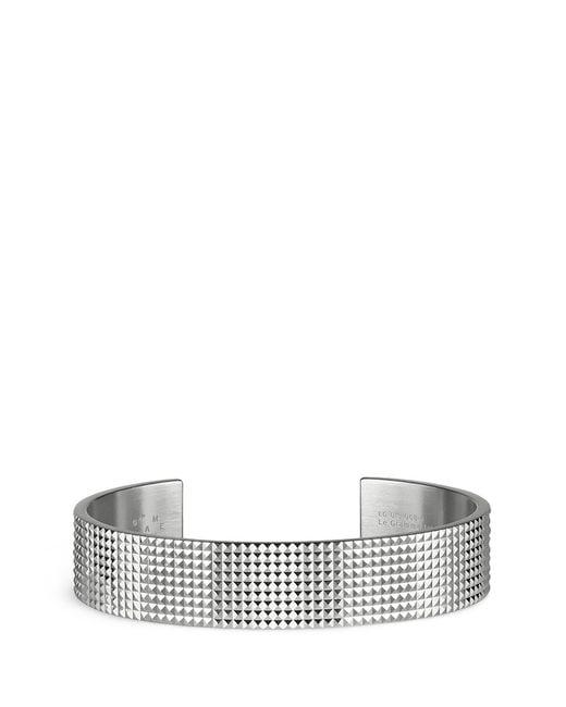 Le Gramme | Metallic 'guilloché Le 41 Grammes' Stud Sterling Silver Cuff for Men | Lyst