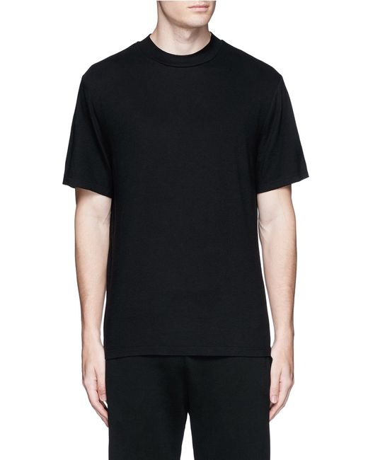 T by alexander wang high crew neck cotton jersey t shirt for High crew neck t shirts