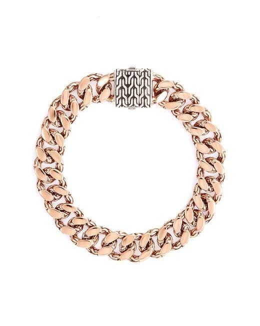John Hardy | Metallic Silver Bronze Curb Chain Bracelet | Lyst